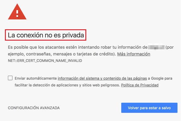 La-conexion-no-es-privada